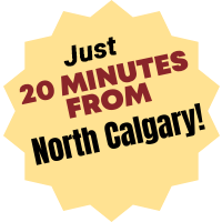 Just 20 Minutes from North Calgary